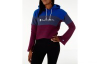 Champion Women's Reverse Weave Blocked Hoodie - Blue/Berry
