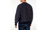 Champion Men's Reverse Weave Allover Print Crewneck Sweatshirt - Navy
