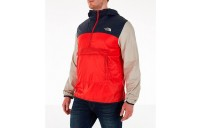 The North Face Men's Fanorak Half-Zip Jacket Fiery Red/Urban Navy/Peyote Beige