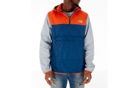 The North Face Men's Fanorak Half-Zip Jacket Blue/Orange/Grey