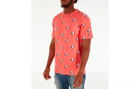 Champion Men's Allover Scribble Script Logo T-Shirt - Groovy Papaya