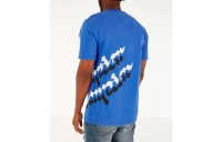 Champion Men's Panel Script T-Shirt - Steel Blue/White