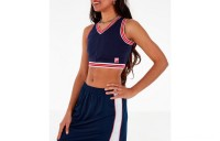 Fila Women's Nina V-Neck Crop Tank Top - Navy