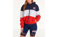 Fila Women's Luella Woven Wind Jacket - Navy/White