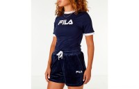 Fila Women's Tionne Cropped T-Shirt - Navy/White