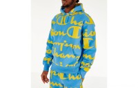 Champion Men's Reverse Weave Allover Print Large Script Hoodie - Active Blue
