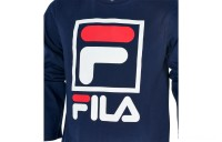 Fila Boys' Stacked Logo Long-Sleeve T-Shirt - Navy