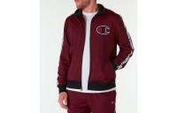Champion Men's Side Tape Track Jacket - Mulled Berry