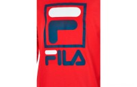 Fila Boys' Stacked Logo Long-Sleeve T-Shirt - Red