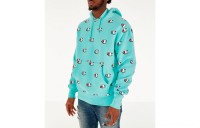 Champion Men's Reverse Weave Allover Scribble Script Hoodie - Waterfall Green