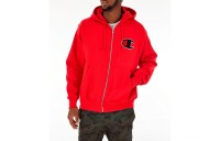 Champion Men's Reverse Weave Chenille Logo Full-Zip Hoodie - Red Scarlet