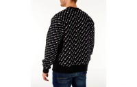 Champion Men's Reverse Weave Allover Print Crewneck Sweatshirt - Black
