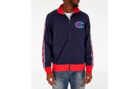 Champion Men's Track Jacket - Indigo/Scarlet