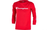 Champion Kids' Heritage Logo Long Sleeve T-Shirt - Scarlet Red