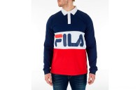 Fila Men's Harley Rugby Long Sleeve Collared Shirt - Navy/Red/White