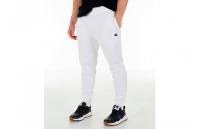 Champion Men's Reverse Weave Small Logo Jogger Pants - White