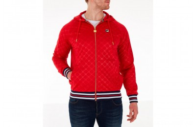 Fila Men's Royce Full-Zip Hoodie - Red