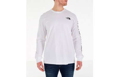 The North Face Men's Sleeve Hit Long-Sleeve T-Shirt White