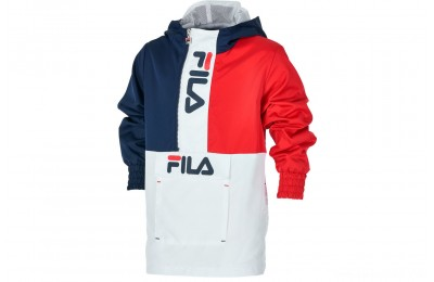Fila Boys' Half-Zip Windbreaker - Red/Navy/White