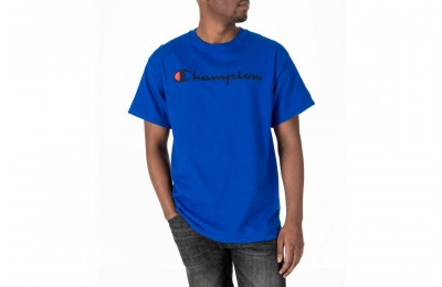 Champion Men's Graphic T-Shirt - Blue