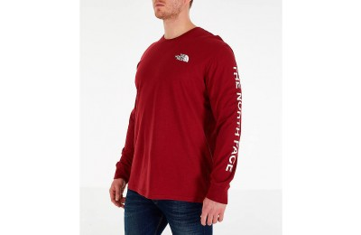 The North Face Men's Sleeve Hit Long-Sleeve T-Shirt Red