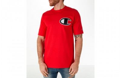 Champion Men's C Patch T-Shirt - Red