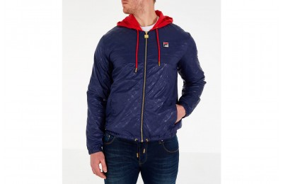 Fila Men's Copper Full-Zip Wind Jacket - Navy