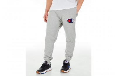 Champion Men's Reverse Weave Big C Chenille Jogger Pants - Grey