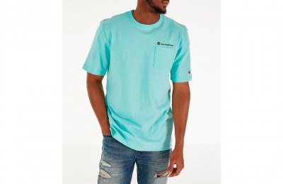 Champion Men's Heritage Pocket T-Shirt - Waterfall Green