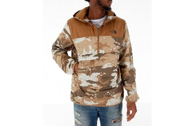 The North Face Men's Novelty Fanorak Half-Zip Jacket Khaki Camo