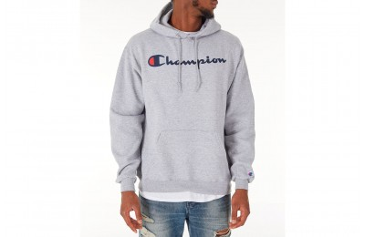 Champion Men's SC Graphic Hoodie - Grey