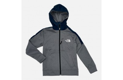 The North Face Boys' Mittellegi Full-Zip Hoodie Grey Heather/Navy