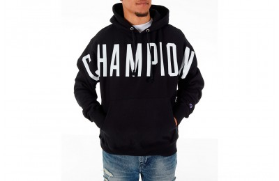 Champion Men's Reverse Weave OS Hoodie - Black/White