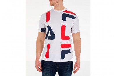 Fila Men's Bennet T-Shirt - White Print