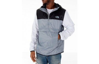 The North Face Men's Fanorak Half-Zip Jacket Grey/Black/White