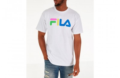 Fila Men's Technicolor T-Shirt - White