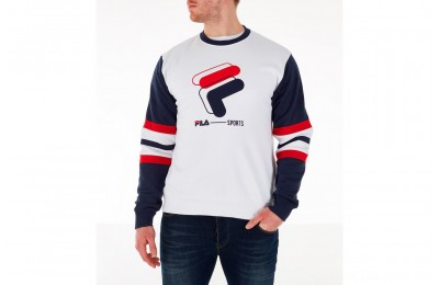 Fila Men's Lambert Archive Crewneck Sweatshirt - White
