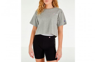 Champion Women's Crop T-Shirt - Oxford Grey