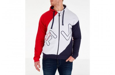 Fila Men's Lazaro Full-Zip Hoodie - Red/White/Blue