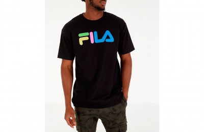 Fila Men's Technicolor T-Shirt - Black