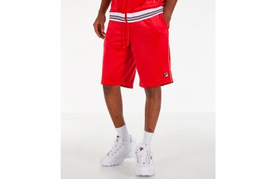 Fila Men's Cristaudo Velour Shorts - Red