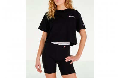 Champion Women's Crop T-Shirt - Black