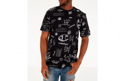 Champion Men's Heritage Scribble Script T-Shirt - Black