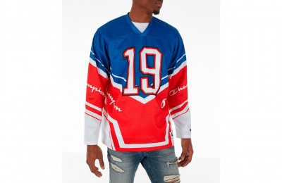 Champion Men's Hockey Jersey - Red/White/Blue