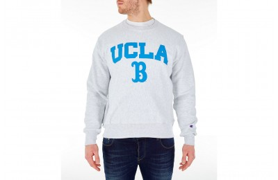 Champion Men's UCLA Bruins College Reverse Weave Crewneck Sweatshirt - Silver Grey