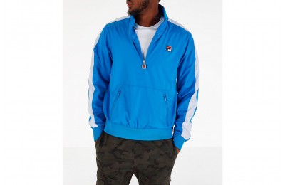 Fila Men's Hopper Half-Zip Wind Jacket - Blue