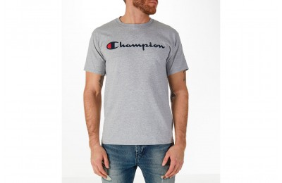 Champion Men's Graphic T-Shirt - Oxford Grey