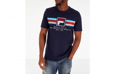 Fila Men's Heritage Mercedes T-Shirt - Navy