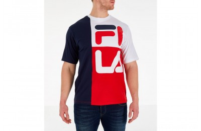 Fila Men's Indo T-Shirt - Navy/Red/White