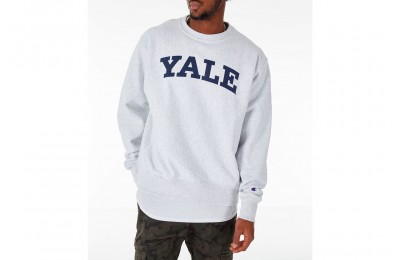 Champion Men's Yale Bulldogs College Reverse Weave Crewneck Sweatshirt - Silver Grey